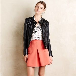 Anthropologie Maeve coral pink mini skirt sz 12